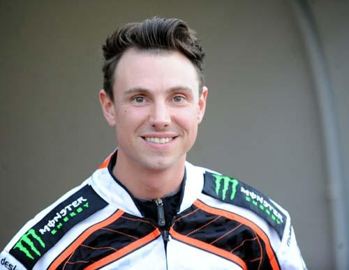 ON HIS BIKE: Simon Stead
