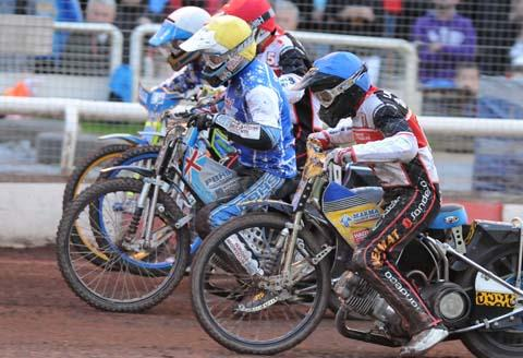 Swindon's Troy Batchelor in action last night