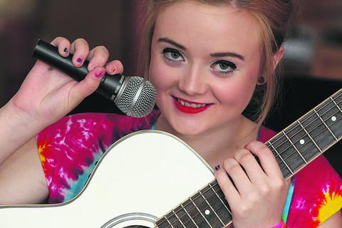 Charlie-Anne Bradfield is hoping for talent show success