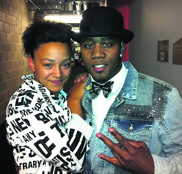 Swindon dancer Natasha Dixon with a member of Flawless