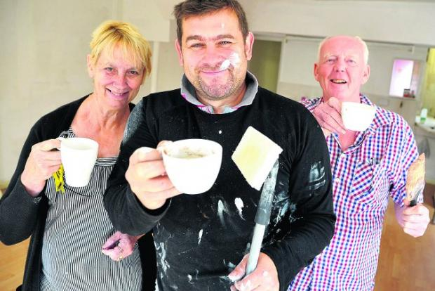 Farewell The Old Town Cafe has now closed for good. From left, Jenny, Kevin and Martin Dinning Pictures: JAMES DOUGLAS