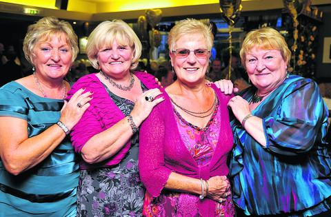 Christine Shurey (second right) with her sisters Jackie Cruse, Sandra Lacey & Pam Harrison