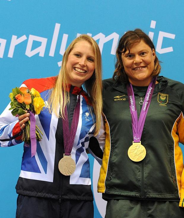 SILVER LINING: Steph Millward, left, and Natalie Du Toit