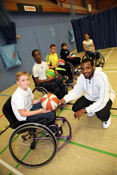 People got to try out wheelchair basketball