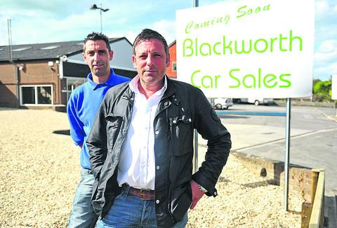 Simon James and Marcus Edginton, of Blackworth Car Sales