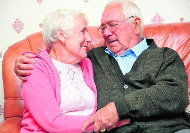 STILL IN LOVE Ken and Mary Jones are celebrating their diamond wedding anniversary today – they tied the knot on September 13, 1952	  Picture:James Douglas