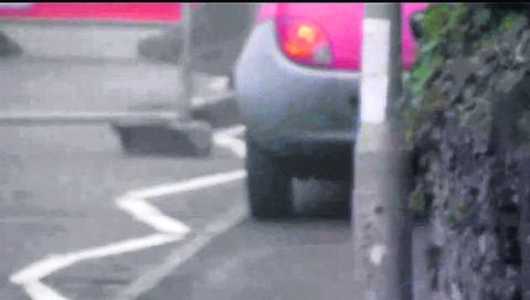 YouTube footage of cars driving on the pavement at Victoria Road