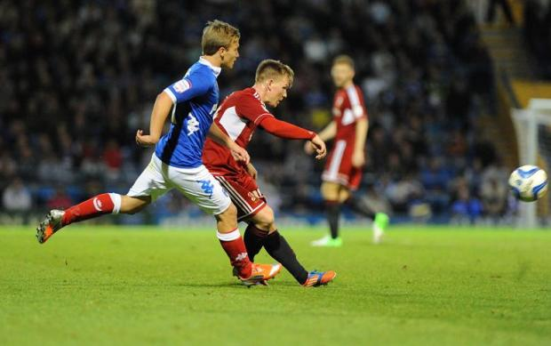 Matt Ritchie in action last night