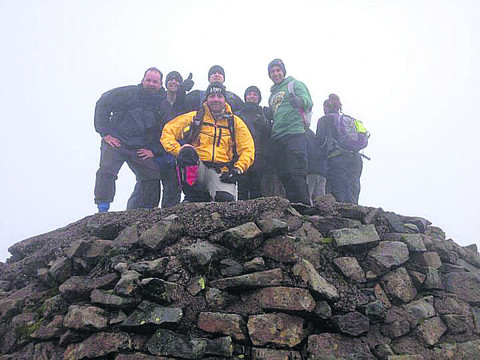 Mike Buss and the team during their Three Peaks Challenge