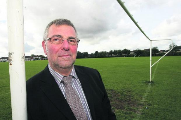 Long-term goal Stratton Council Clarke Paul Russell is applying to have three playing fields protected  Picture: STUART HARRISON