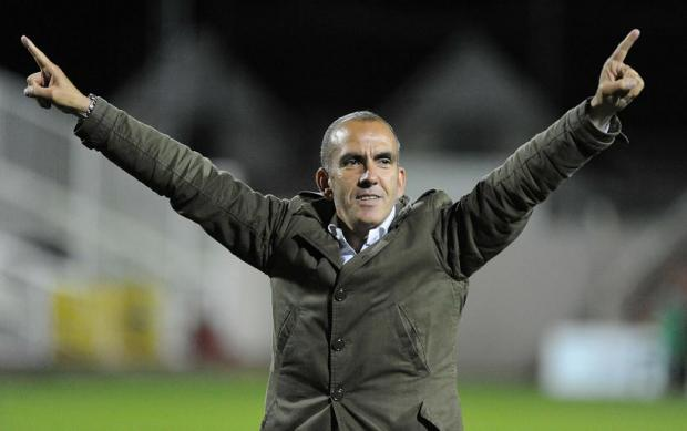Paolo Di Canio celebrates last night