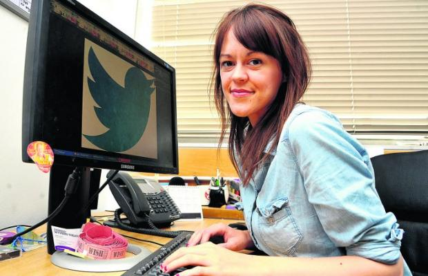 Jenny Hogg, who set up a town-wide Twitter project