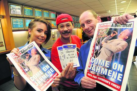 Kymberly Birch, Bobby Yap and Paul Rattue at William Hill in Covingham