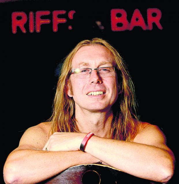 Swindon Advertiser: Andy Pett of Riffs Bar