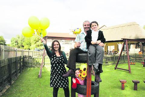 Andy and Julie Moss were encouraged to take on The Sun Inn by their children Euan and Liberty