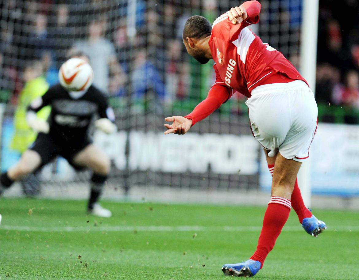 John Bostock in action for Town