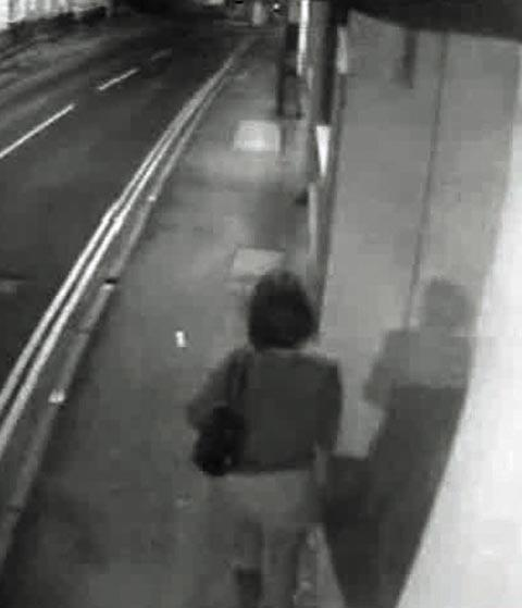 CCTV of Sian near the Goddard Arms