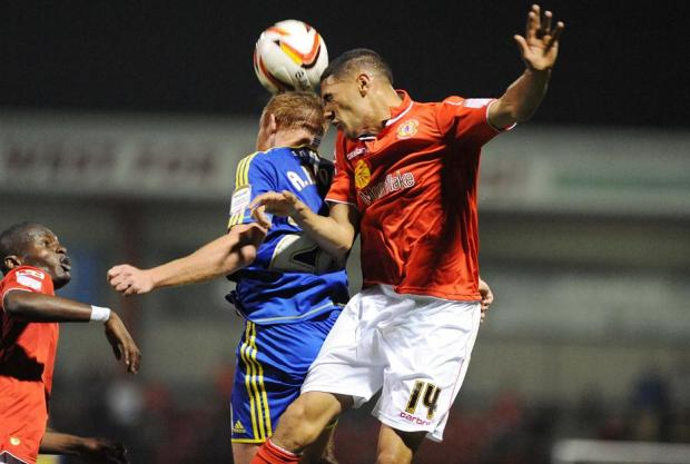 Action from Town's defeat at Crewe last night