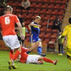 WASTED CHANCES: Jay McEveley fails to find a way through against Crewe