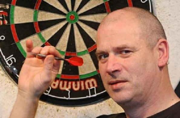 Swindon darts star Johnny Haines