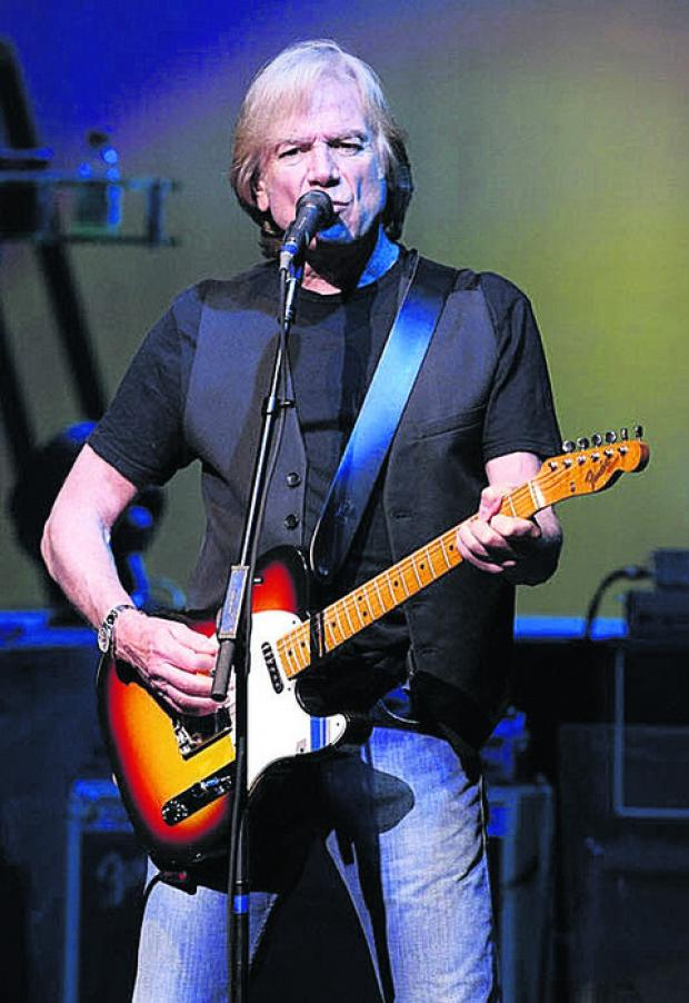 Justin Hayward playing a Telecaster similar to the one he donated