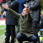 Swindon Town boss Paolo Di Canio at Stevenage on Saturday