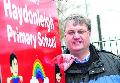 Coun David Renard at Haydonleigh Primary