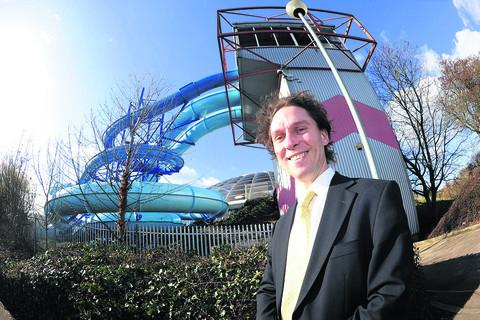 Coun Keith Williams outside the Oasis Leisure Centre, which is in line for a revamp