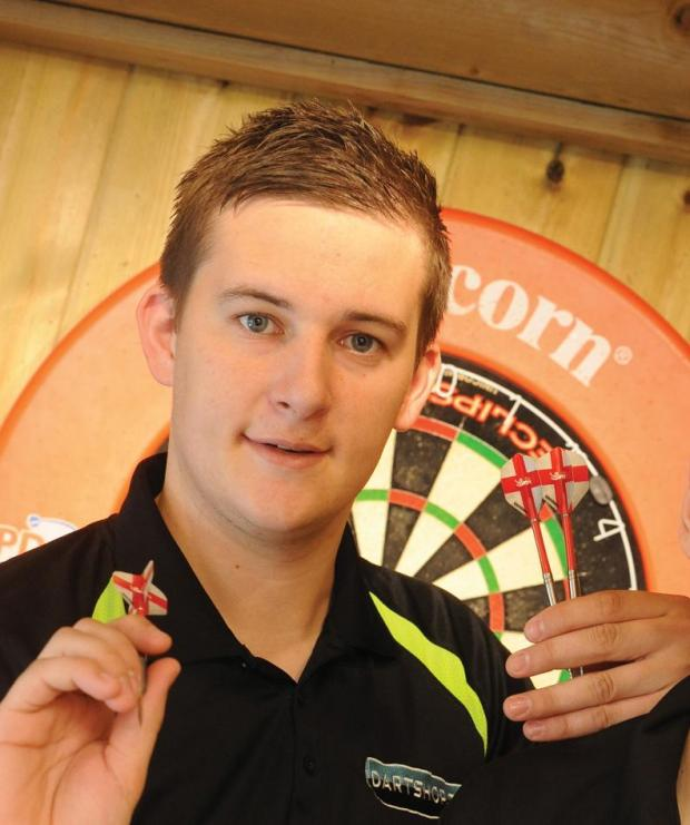 Swindon darts star Chris Aubrey