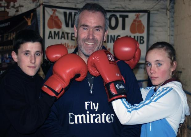 FAMILY FORTUNES: Kieran O'Donoghue, left, with sister Jordan and dad Jason