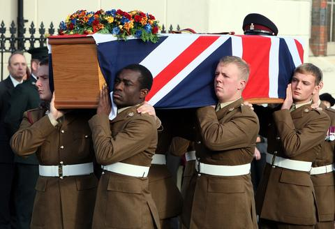 Funeral of Coporal Channing Day takes place
