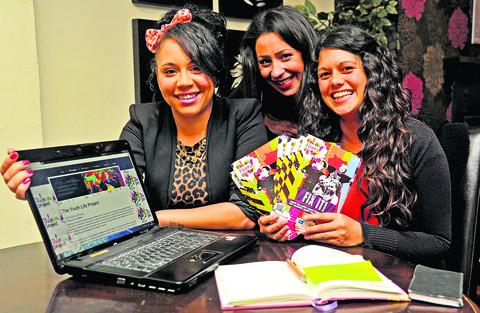 Youth Life Project have launched a Youth Stories Project. From left, are Danielle Brown, Shakira West-Moreland and Nicola Johnson