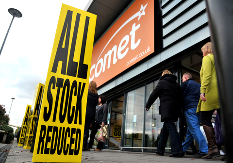 Shoppers flock to the sale at Comet, in the Orbital Retail Park