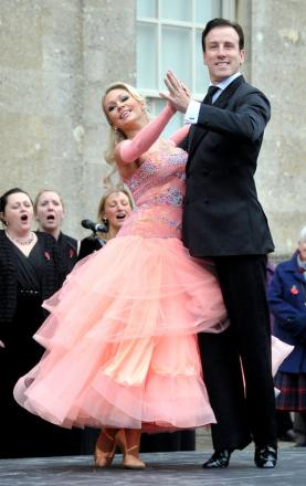 Strictly Come Dancing stars Kristina Rihanoff and Anton Du Beke at Lydiard Park for the opening of the Field of Remembrance