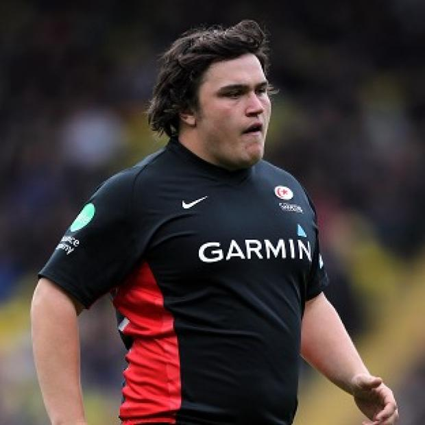 Jamie George scored the opening try for Saracens, who demolished Leicester