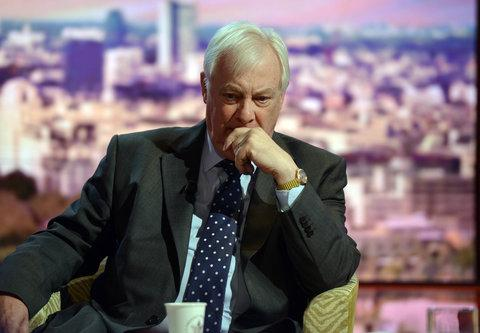 Lord Patten appearing on the BBC1's The Andrew Marr Show