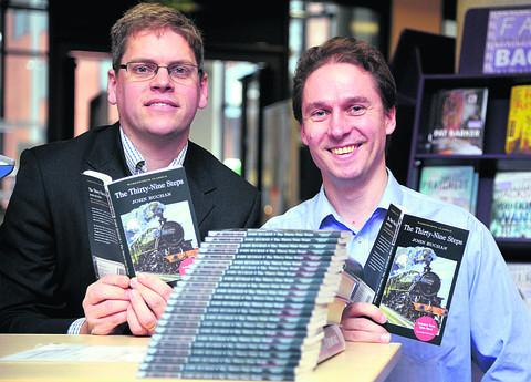 Derek Aldridge, left, and Keith Williams with the free novels