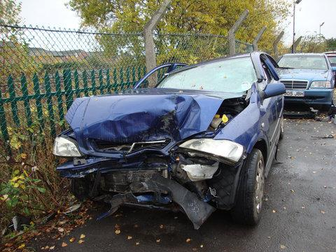 Sarah Ramruttun-Mulcock's car after the accident in Wroughton last week. She had to be cut free, but escaped with minor injuries