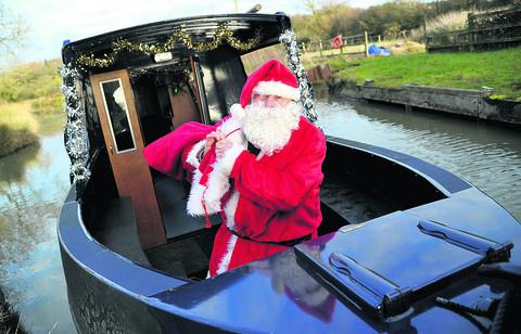 Father Christmas sets sail on charity canal adventure