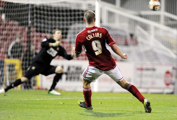 BACK IN THE GOAL ROUTINE: James Collins
