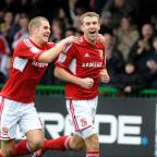 Swindon Advertiser: GOAL-GETTERS: James Collins and Andy Williams