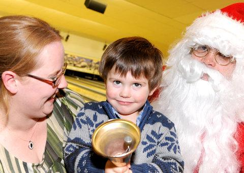 Melanie Hopkins-Staples, Rhys Hopkins-Staples and Father Christmas