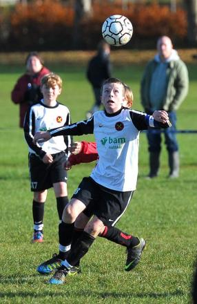 Action from Swindon Rangers Under 12s' 2-0 win over Ferndale