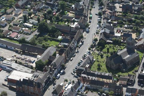Aerial voew of Royal Wootton Bassett High Street