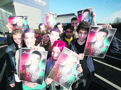 Students from New College are supporting Jahmene Douglas in X Factor