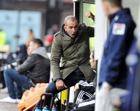 Swindon Town boss Paolo Di Canio at Meadow Lane on Saturday