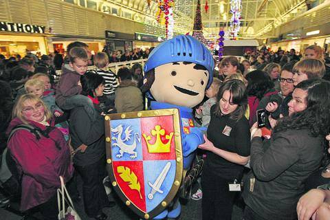 Mike the Knight at the centre