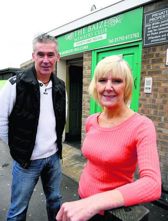 Karen Price and Chris Shields at the Green Baize Club