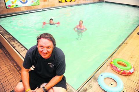 Neil Montgomery at Thamesdown Hydrotherapy Pool, which is closing for refurbishment