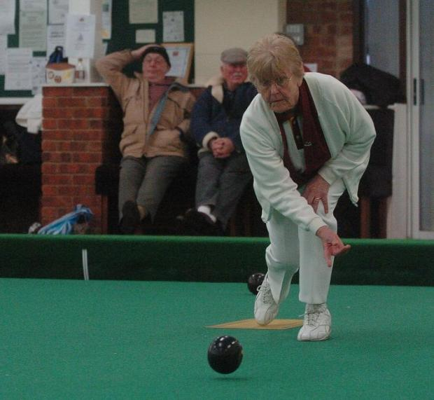 Doris Woodley in action